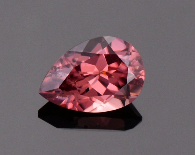 Glittery Rose Pink Zircon Gemstone from Tanzania, 2.89 cts., 9.8 x 6.8 mm., Pear Shape.