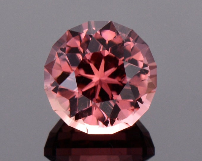 Fabulous Rose Pink Tourmaline Gemstone, 4.14 cts., 9.4 mm., Modified Round Step Brilliant Cut