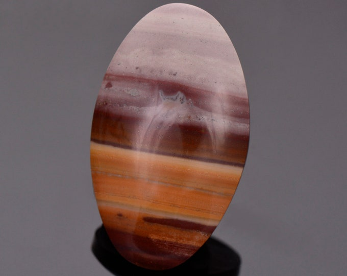 Pretty Banded Rhyolite Cabochon from New Mexico, 42.51 cts., 39 x 23 mm., Oval Shape