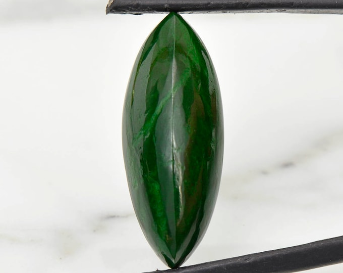 Fine Forest Green Maw Sit Sit Cabochon from Burma 13.43 cts.