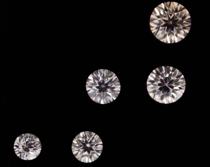 Stunning Silver White Zircon Gemstone Set from Australia 3.12 tcw.