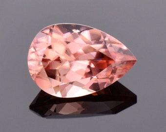 Beautiful Pink Peach Zircon Gemstone from Tanzania, 2.44 cts., 9.4x6.4 mm., Pear Shape