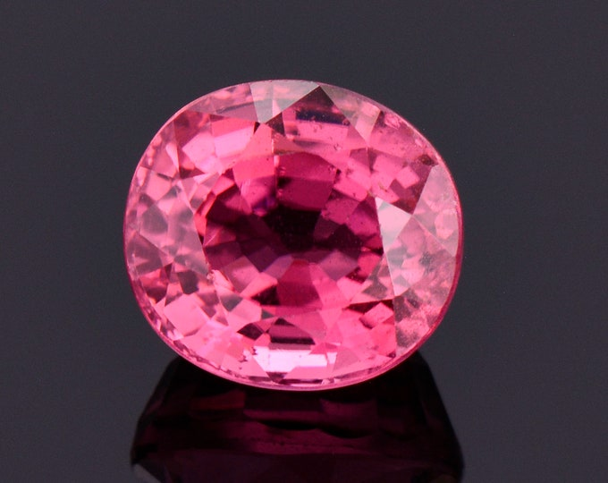 Gorgeous Bright Pink Tourmaline Gemstone, 3.17 cts., 8.8x8.0 mm., Oval Shape