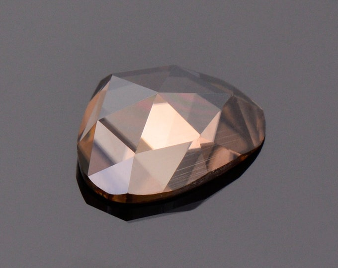 Lovely Mocha Zircon Gemstone from Tanzania, 1.99 cts., 8.8 x 7.0 mm., Freefrom Rose Cut.