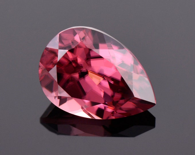 Stunning Rose Pink Zircon Gemstone from Tanzania, 3.84 cts., 10.7x7.6 mm., Pear Shape