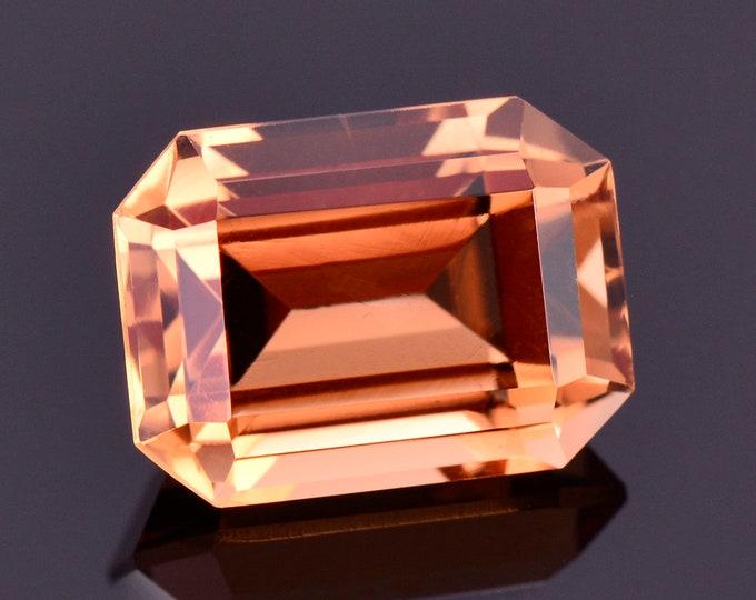 Gorgeous Bright Orange Topaz Gemstone from Mexico, 5.71 cts., 11x8 mm., Step Emerald Cut