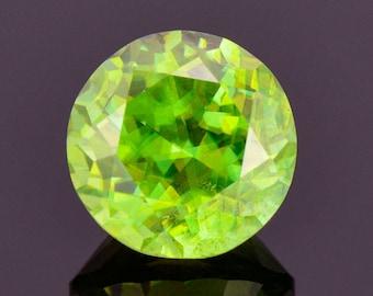 Fabulous Green Sphene / Titanite Gemstone from Madagascar, 4.74 cts., 9.7 mm., Round Shape