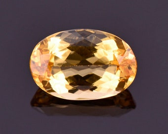 SALE! Beautiful Bright Yellow Orange Imperial Topaz Gemstone, 1.35 cts., 8.3x5.5 mm., Oval Shape