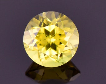 Brilliant Lemon Yellow Sapphire Gemstone from Australia, 0.87 cts., 5.5 mm., Round Brilliant Cut
