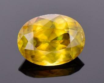 Large Rare Titanite Sphene Gemstone from Pakistan, 10.01 cts., 15x11 mm., Oval Shape