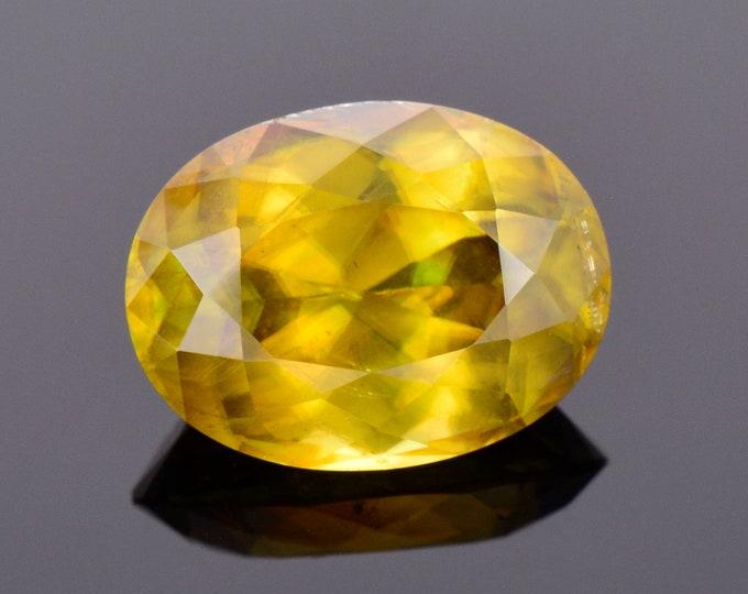 SALE! Large Rare Titanite Sphene Gemstone from Pakistan, 10.01 cts., 15x11 mm., Oval Shape