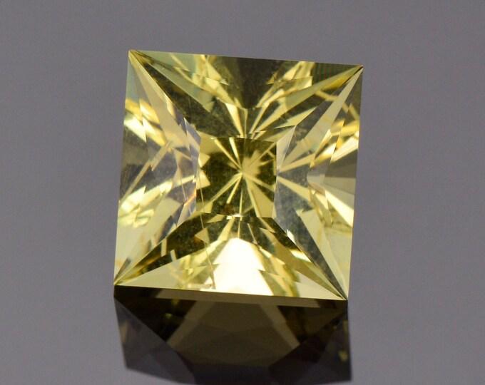 Brilliant Yellow Heliodor Beryl Gemstone from Ukraine, 8.34 cts., 12 mm., Custom Princess Cut