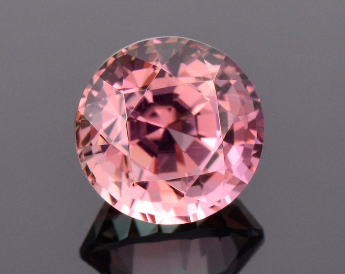 Marvelous Pink Tourmaline Gemstone from Congo, 4.47 cts., 9.8 mm., Custom Step Round Shape