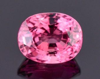 Gorgeous Bright Pink Tourmaline Gemstone, 3.07 cts., 9.5x7.5 mm., Oval Shape