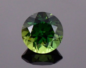 Gorgeous Green Sapphire Gemstone from Australia, 1.13 cts., 6 mm., Round Brilliant Cut