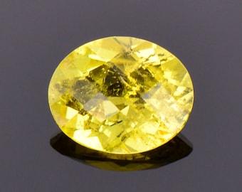 Canary Yellow Sunset Tourmaline Gemstone from Tanzania, 3.23 cts., 11x9 mm., Oval Shape