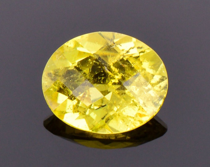 SALE! Canary Yellow Sunset Tourmaline Gemstone from Tanzania, 3.23 cts., 11x9 mm., Oval Shape