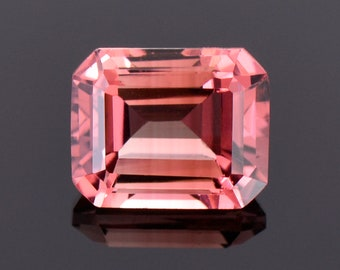 SALE! Gorgeous Pink Tourmaline Gemstone from Mozambique, 3.88 cts., 10x8 mm., Emerald Shape