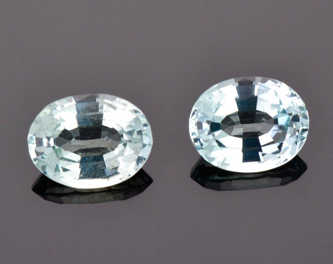 SALE! Gorgeous Ice Blue Aquamarine Gemstone Match Pair from Idaho, 4.82 tcw., 10 x 8 mm., Oval Shapes