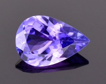 SALE! Beautiful Bright Blue Purple Tanzanite Gemstone, 1.97 cts., 10.9x7.4 mm., Pear Shape