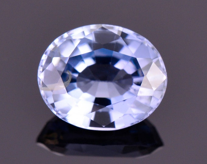 Lovely Steely Blue Purple Spinel Gemstone from Sir Lanka, 1.41 cts., 7.7x6.2 mm., Oval Shape