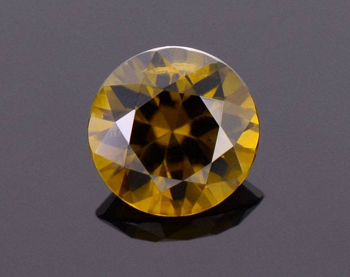SALE! Rare Sinhalite Gemstone from Sri Lanka, 2.03 cts., 8 mm., Round Brilliant Cut