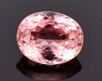 Gorgeous Peachy Pink Tourmaline Gemstone from Mozambique, 3.35 cts., 10x8 mm., Oval Shape