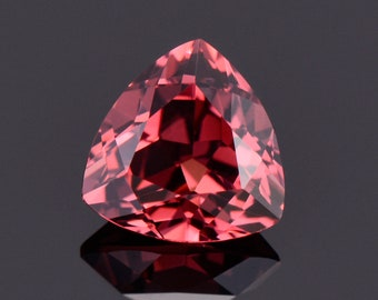 Beautiful Pink Red Spinel Gemstone from Tanzania, 1.31 cts., 7 mm., Trillion Shape