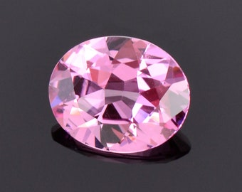 SALE! Excellent Bright Pink Spinel Gemstone from Sri Lanka, 1.35 cts., 8.1x6.6 mm., Oval Shape
