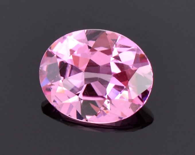 Excellent Bright Pink Spinel Gemstone from Sri Lanka, 1.35 cts., 8.1x6.6 mm., Oval Shape