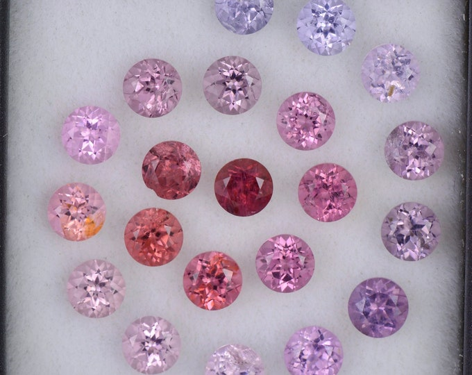HOLIDAY SALE! Gorgeous Multi Color Spinel Gemstone Set, 6.14 tcw., 4.0 mm., Round Brilliant Cut