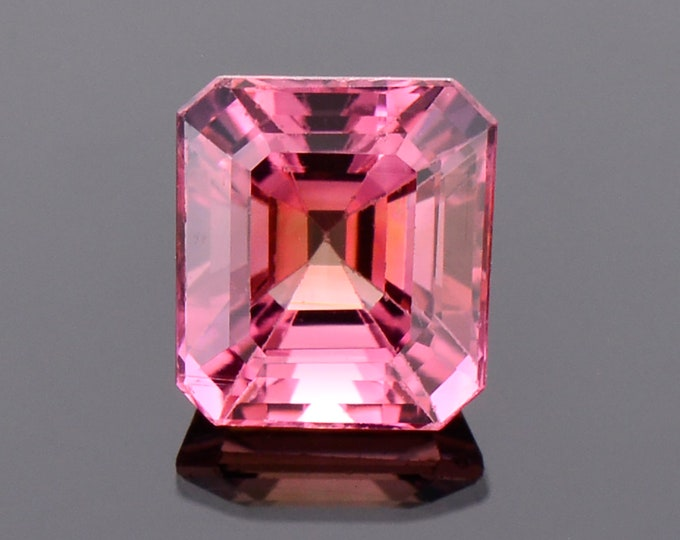 Excellent Pink Tourmaline Gemstone from Mozambique, 2.55 cts., 8x7 mm., Emerald Shape
