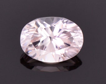 SALE! Gorgeous Champagne Pink Zircon Gemstone from Australia, 1.77 cts., 7.7x5.6 mm., Concave Oval Cut