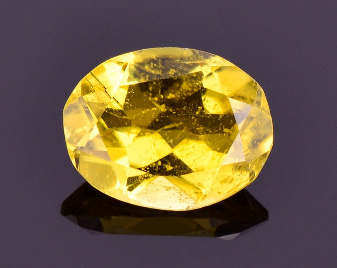 Bright Canary Yellow Sunset Tourmaline Gemstone, 2.23 cts., 9.7x7.7 mm., Oval Shape