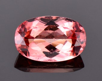 Lovely Peachy Pink Tourmaline Gemstone from Nigeria, 4.28 cts., 12.8x8.2 mm., Oval Shape
