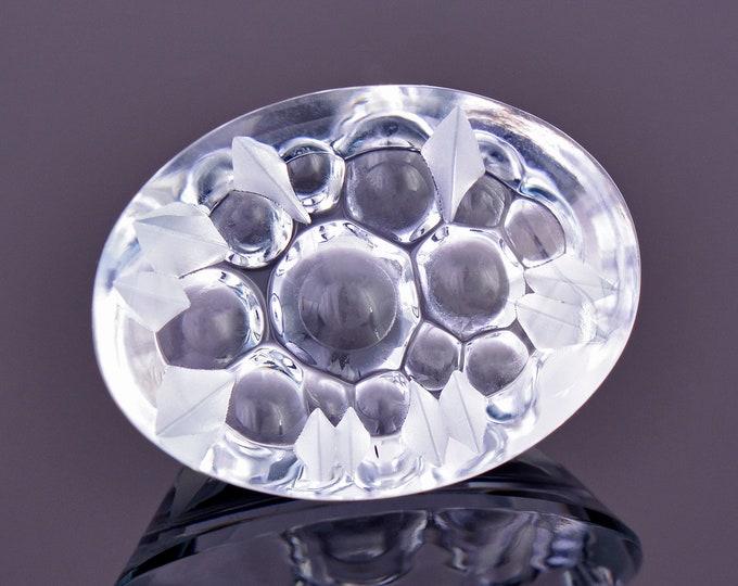 Gorgeous Ice Blue Fantasy Aquamarine Gemstone, 8.55 cts., 17x12 mm., Smooth Oval Shape