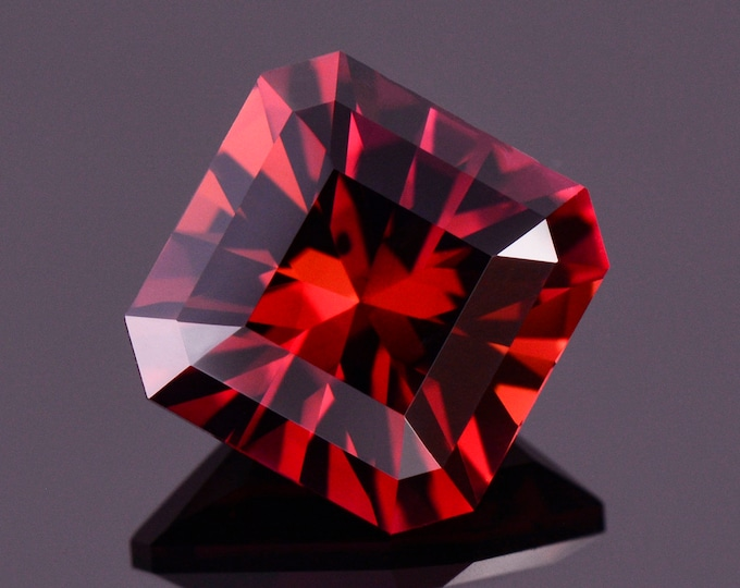 Exquisite Red Rubellite Tourmaline Gemstone from Nigeria, 5.49 cts., 10 mm., Asscher Brilliant Cut
