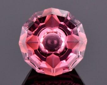 Fabulous Pink Tourmaline Gemstone, 3.46 cts., 10 mm., Fantasy Cut Round Shape