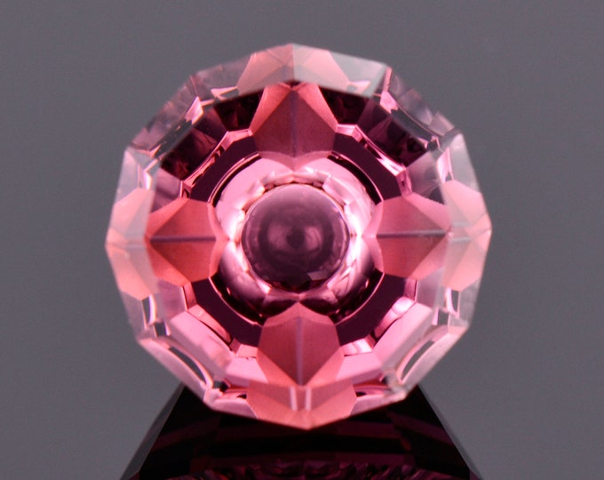 Fabulous Pink Tourmaline Gemstone, 3.46 cts., 10 mm., Fantasy Cut Round Shape