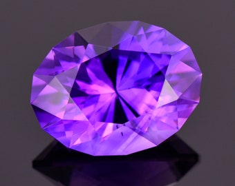 Gorgeous Rich Purple Amethyst Gemstone from Jackson's Crossroads, 8.92 cts., 16x12 mm, Oval Shape