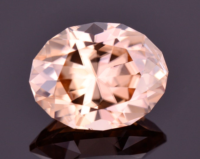 Exquisite Peach Champagne Zircon Gemstone from Tanzania, 5.53 cts., 11x8 mm., Oval Brilliant Shape
