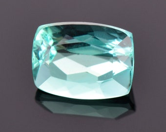 SALE! Beautiful Teal Blue Tourmaline Gemstone from Brazil, 1.59 cts., 8x6 mm., Cushion Shape