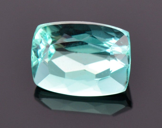 Beautiful Teal Blue Tourmaline Gemstone from Brazil, 1.59 cts., 8x6 mm., Cushion Shape