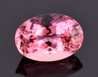 Excellent Bright Pink Tourmaline Gemstone, 6.88 cts., 14.0x9.7 mm., Oval Cut