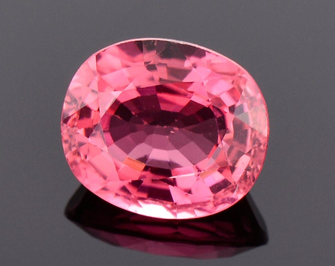 SALE! Lovely Rose Pink Rubellite Tourmaline Gemstone, 3.75 cts., 10.5x9.0 mm., Oval Shape
