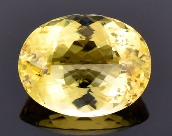 Fabulous Bright Yellow Heliodor Beryl Gemstone, 11.60 cts., 17.3x13.5 mm., Oval Shape