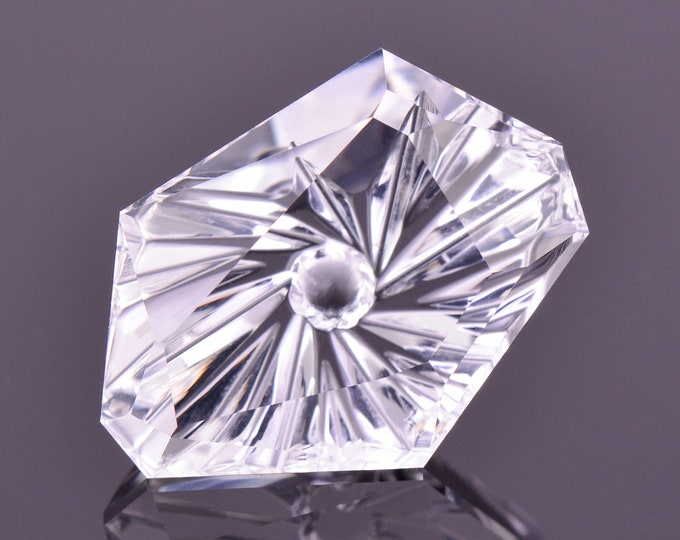 SALE! Unique Petalite Fantasy Gemstone, 4.04 cts., 13x10 mm., Freeform Shape, Vortex Series