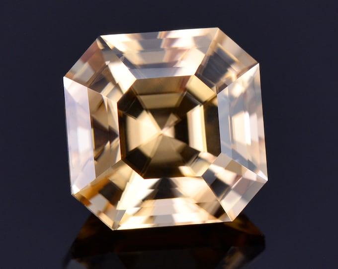 Fantastic Champagne Zircon Gemstone from Tanzania, 6.05 cts., 9 mm., Asscher Cut