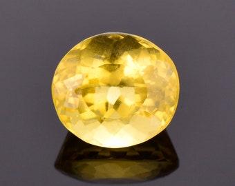 SALE! Lovely Golden Yellow Heliodor Beryl Gemstone, 3.39 cts., 9.7x8.8 mm., Oval Shape