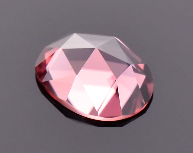 Excellent Bright Pink Zircon Gemstone, 1.91 cts., 8.5x6.5mm., Oval Rose Cut